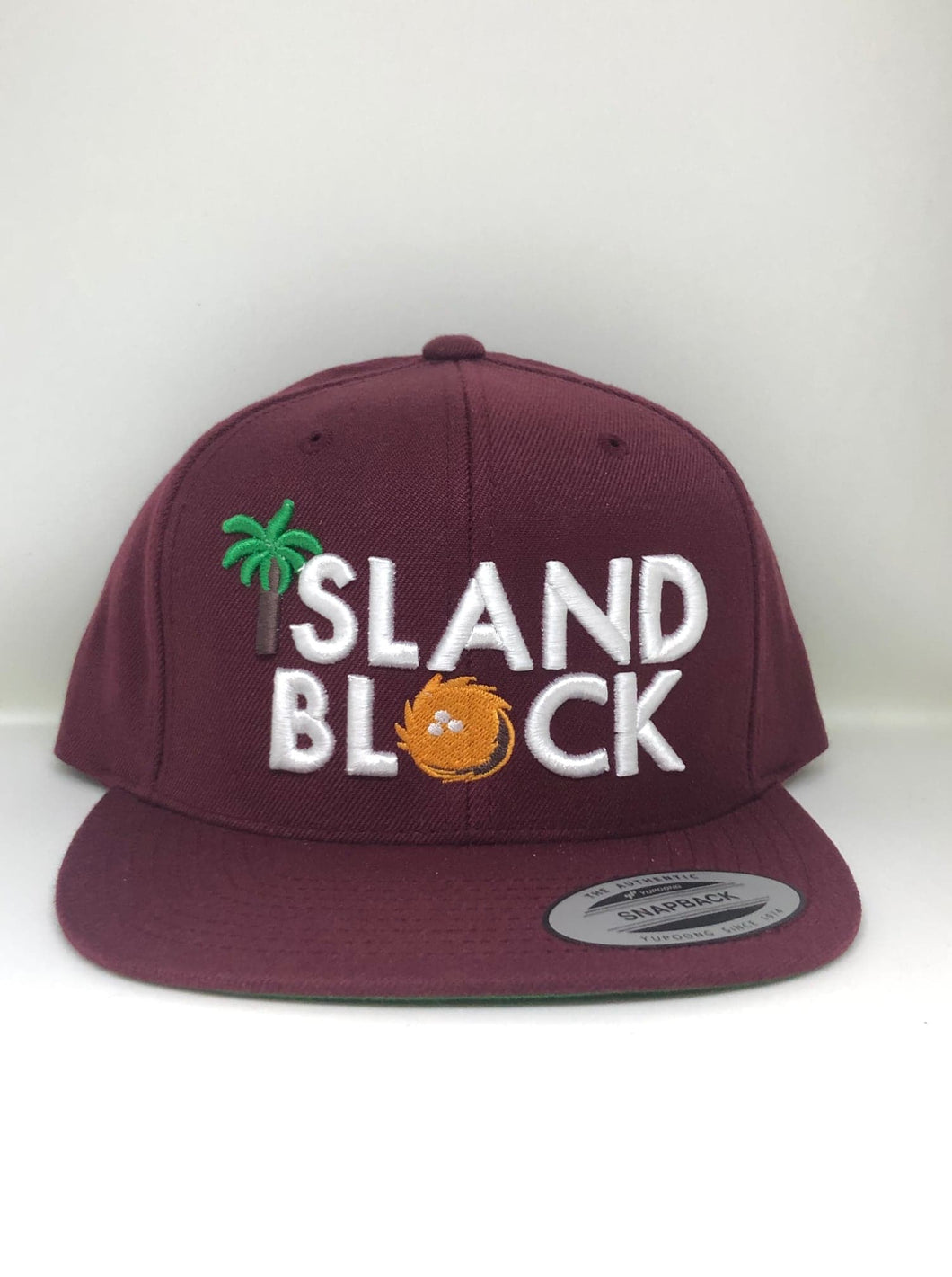 Island Block Burgundy Snap Back