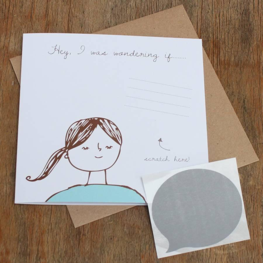 Lou Brown Designs card 'I Was Wondering If…' Scratch Off Card