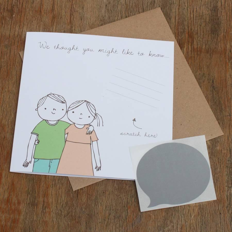 Lou Brown Designs card 'We Thought You Might Like To Know…' Scratch Off Card