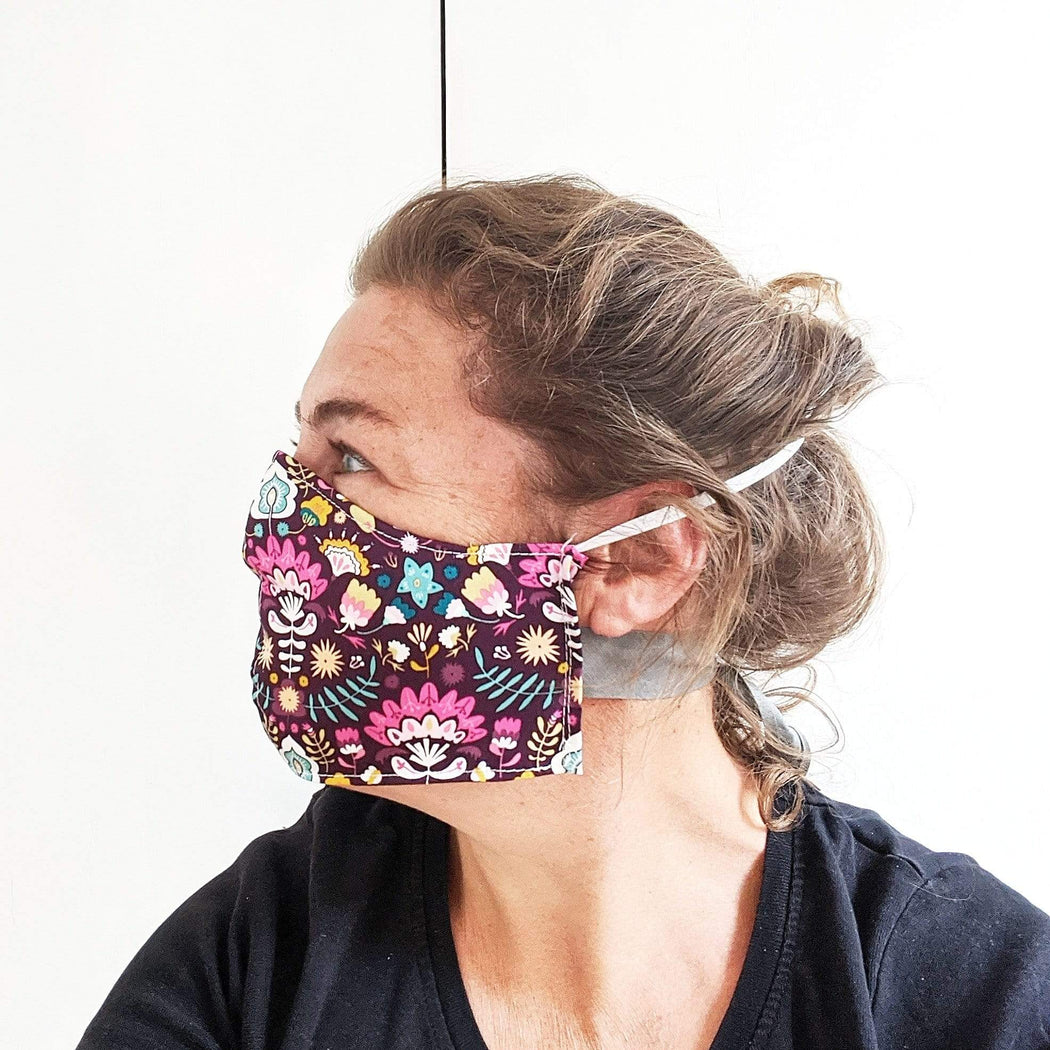 Lou Brown Designs face mask Woman Face Mask