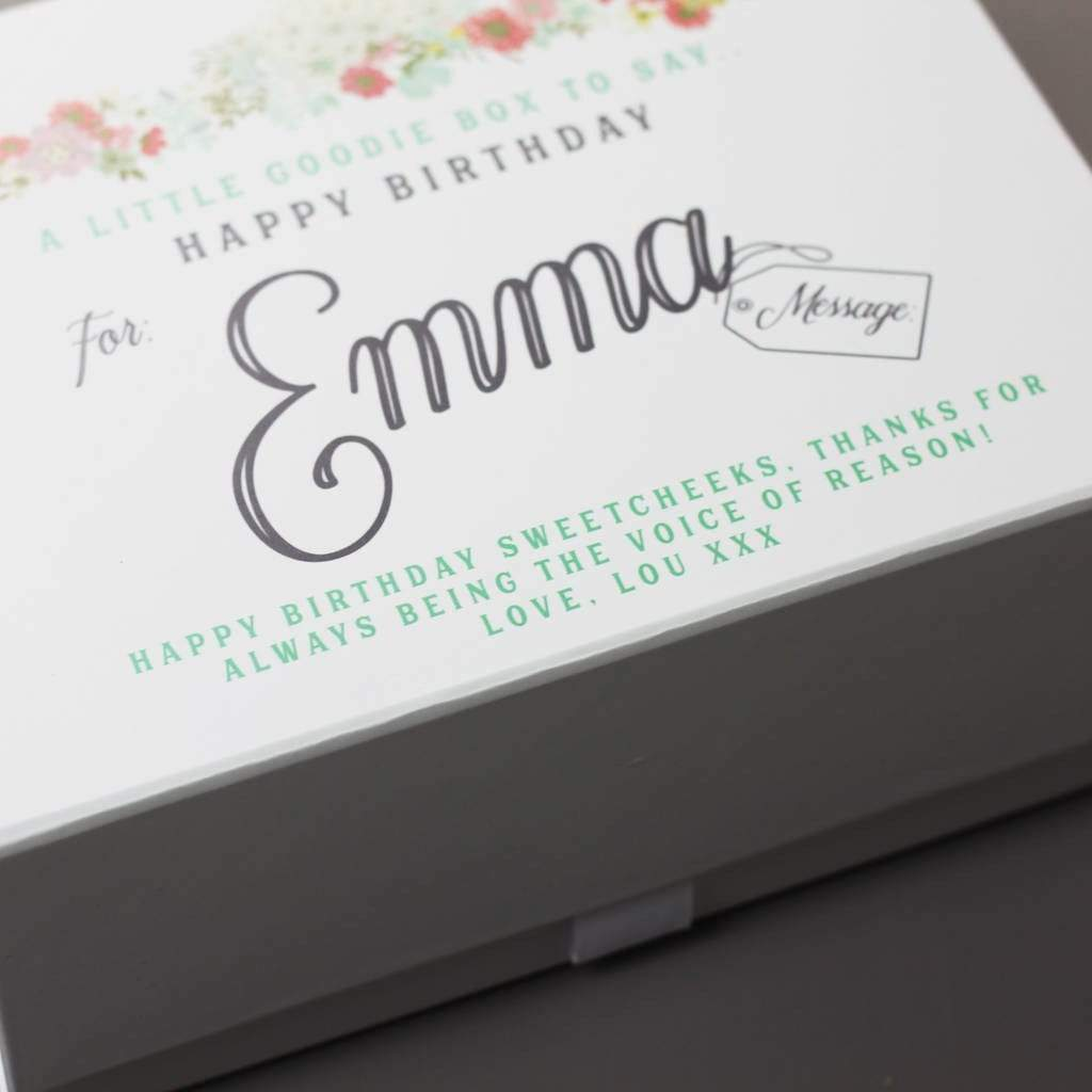 Lou Brown Designs Fill yourself box Personalised Birthday Gift Keepsake Box