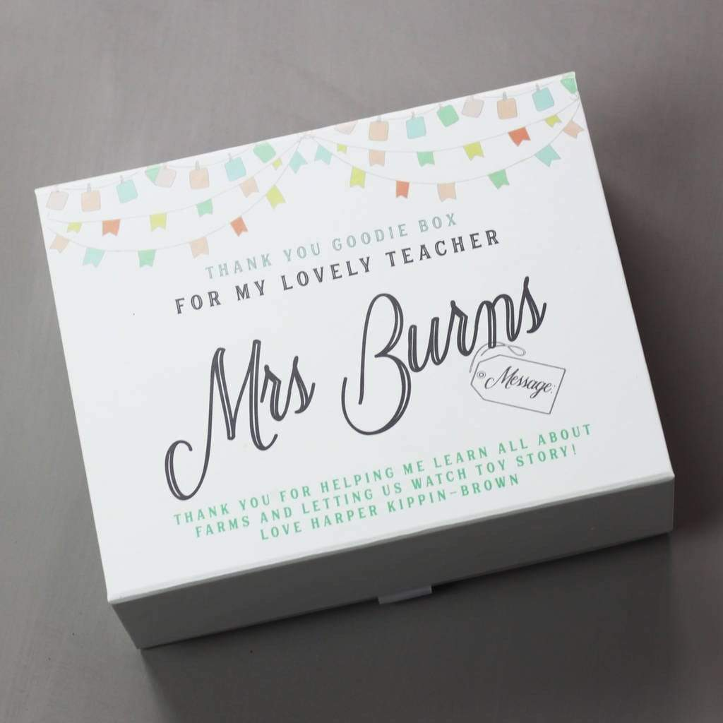 Lou Brown Designs Fill yourself box Personalised Teacher Gift Keepsake Box