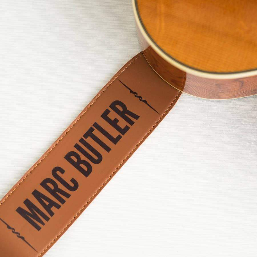 Lou Brown Designs Guitar Strap Personalised Leather Guitar Strap