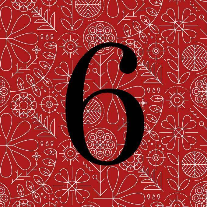 Abodian Signs House Signs Folk Art Meadow Lines Red Acrylic House Number