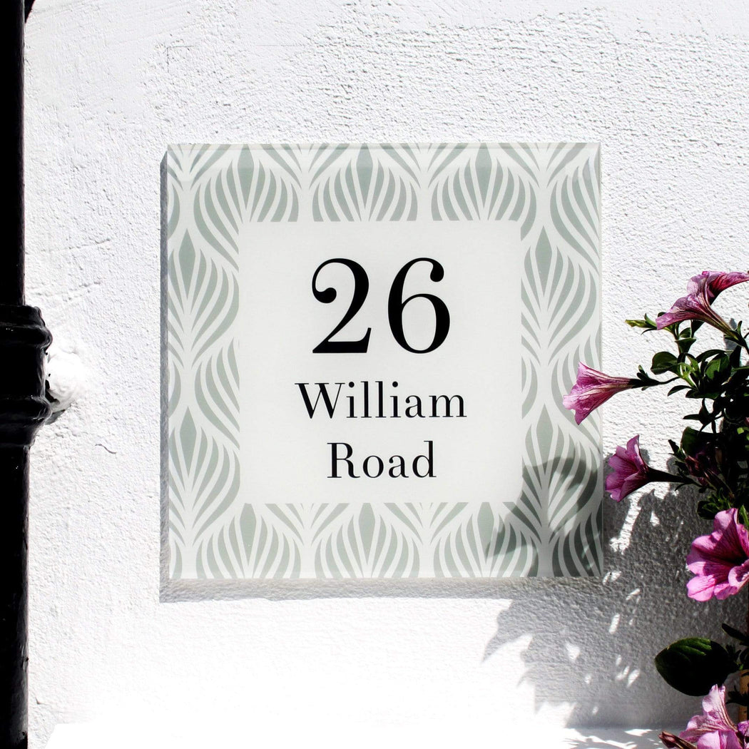 Abodian Signs House Signs Geometric Fleur Acrylic House Number