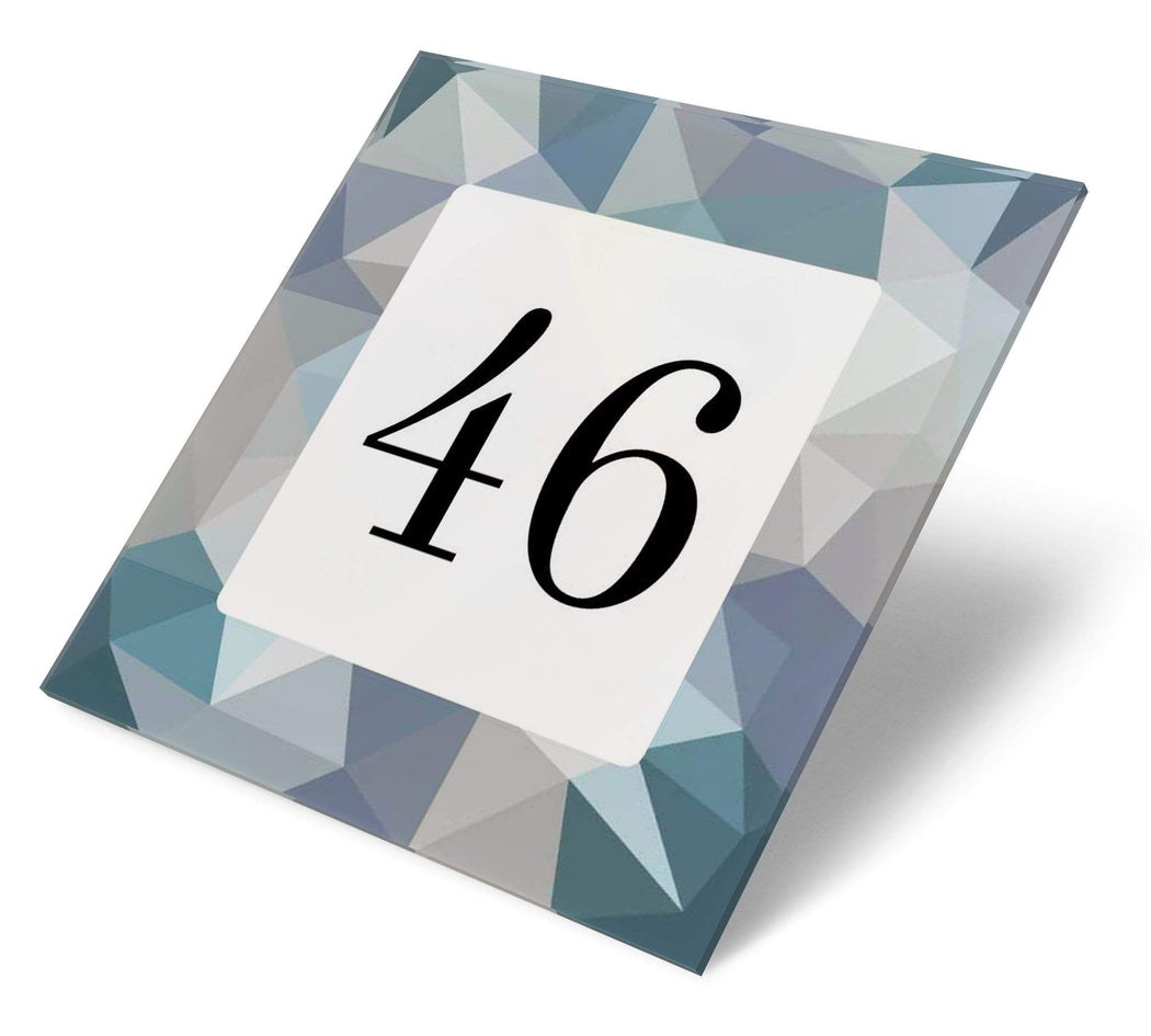 Abodian Signs House Signs Modern Greys Diamond Acrylic House Number