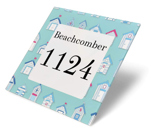 Abodian Signs House Signs Nautical Beach Huts Acrylic House Number