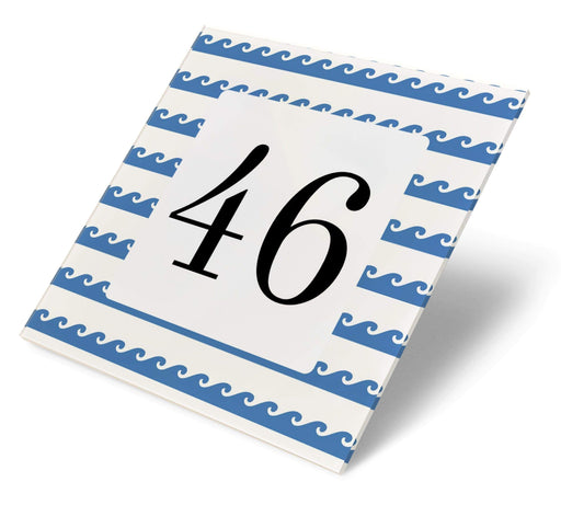 Abodian Signs House Signs Nautical Simple Waves Acrylic House Number