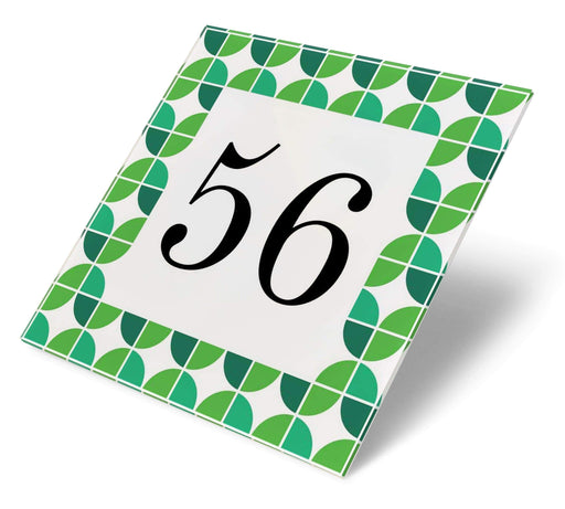 Abodian Signs House Signs Retro Biba Green Acrylic House Number