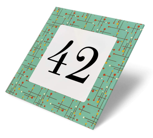 Abodian Signs House Signs Retro Fifties Diner Acrylic House Number