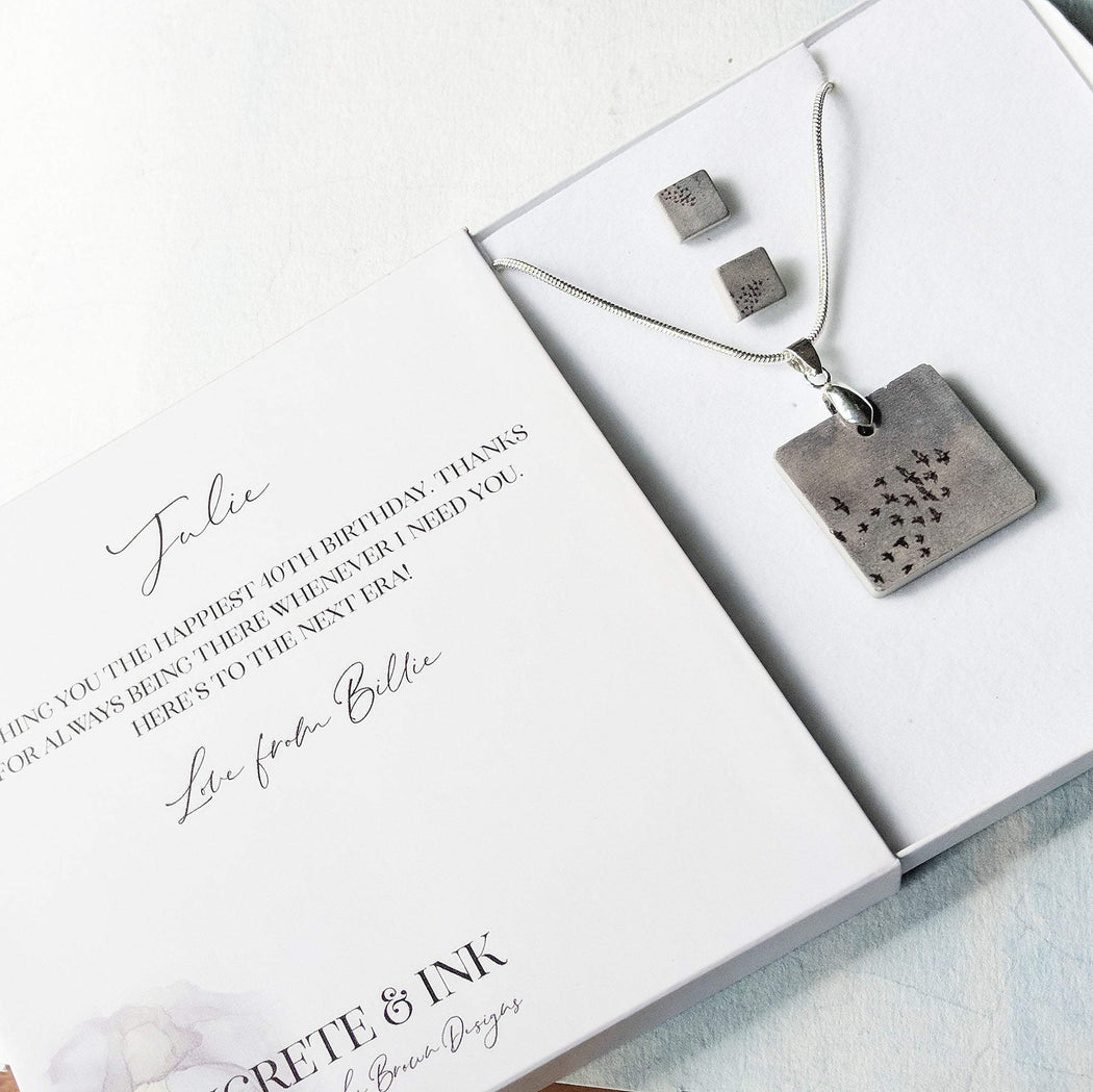 Concrete & Ink Jewellery Birds in Flight Gift Set