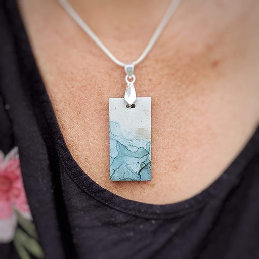 Concrete & Ink Jewellery Inkwell Greens Pendant Necklace