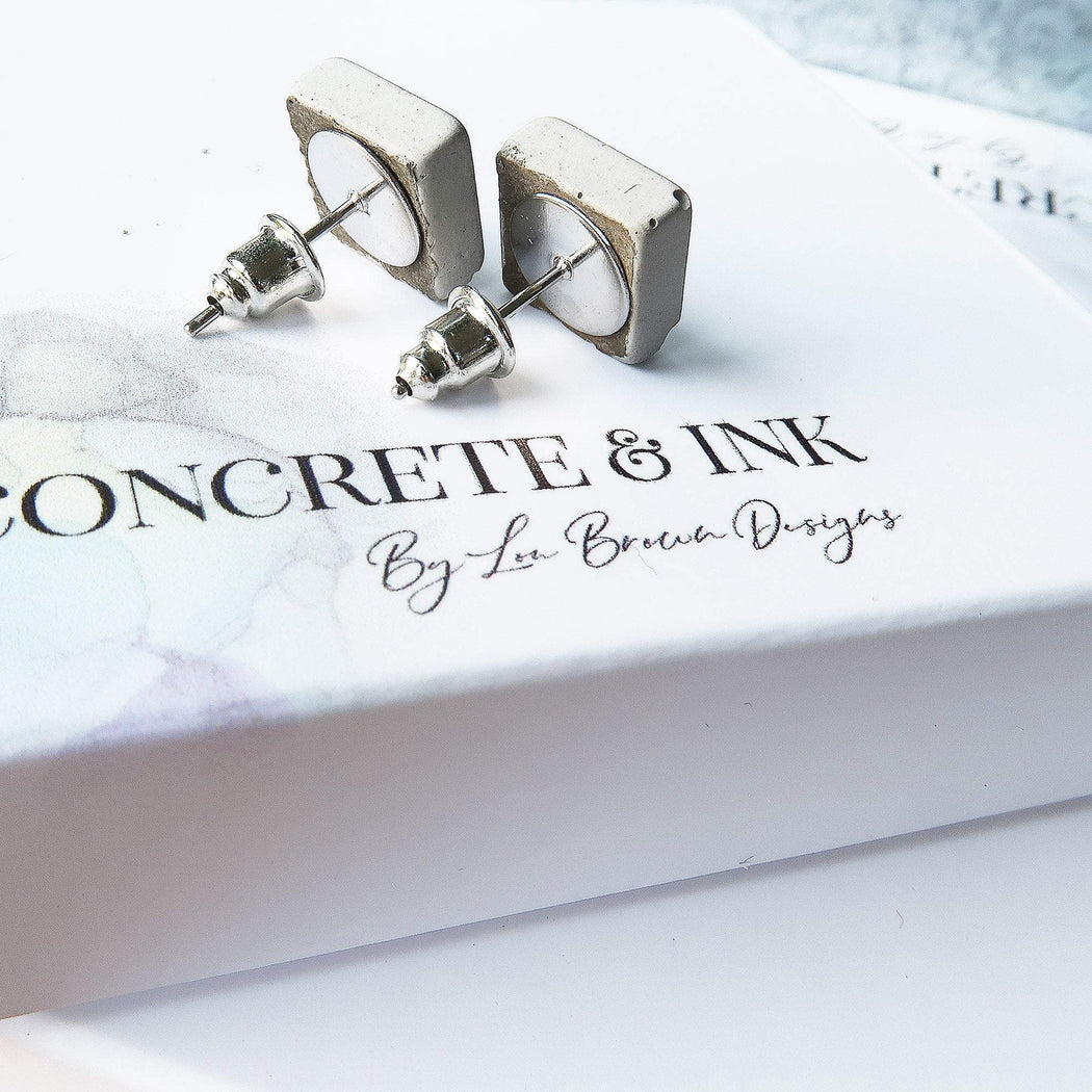 Concrete & Ink Jewellery Inkwell Pinks Earrings