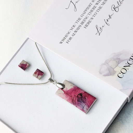 Concrete & Ink Jewellery Inkwell Pinks Gift Set