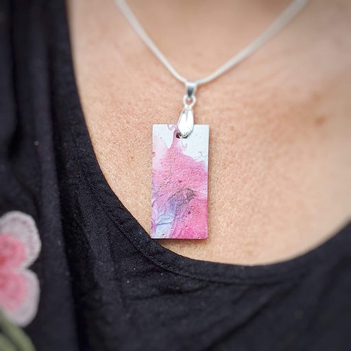Concrete & Ink Jewellery Inkwell Pinks Pendant Necklace