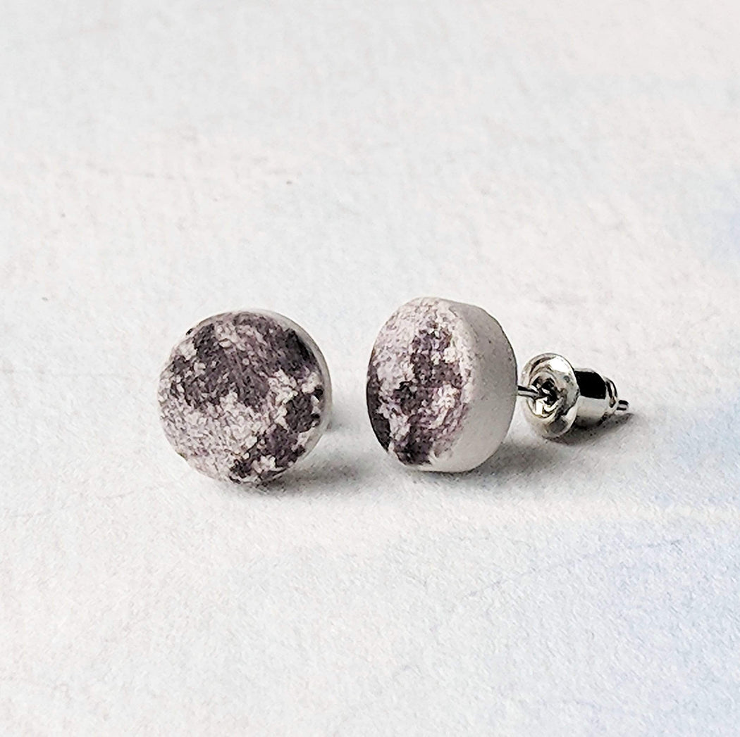 Concrete & Ink Jewellery Moon Earrings