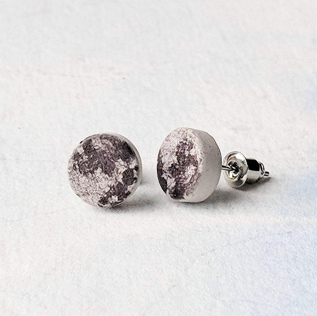 Concrete & Ink Jewellery Moon surface pendant necklace