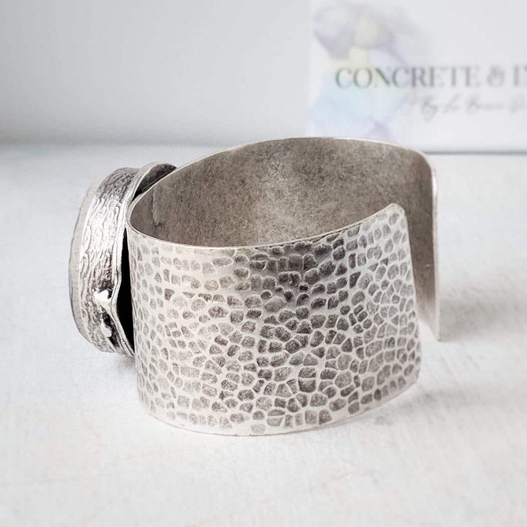 Concrete & Ink Jewellery Moon surface statement cuff bracelet