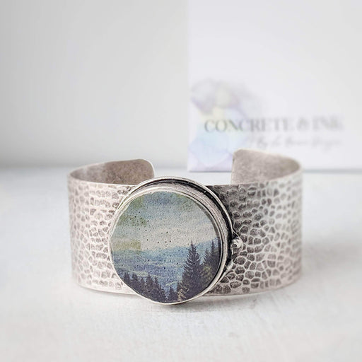 Concrete & Ink Jewellery Mountain view statement cuff bracelet