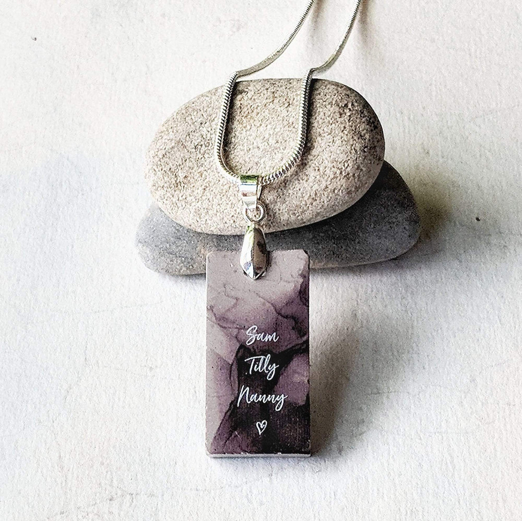Concrete & Ink Jewellery Personalised inkwell name necklace