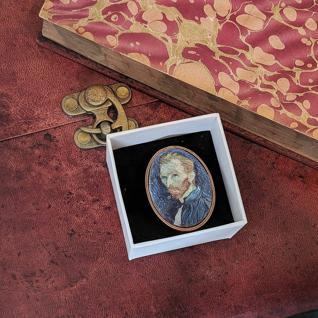 Concrete & Ink Jewellery Self Portrait 1889 by Van Gogh. Statement Ring.