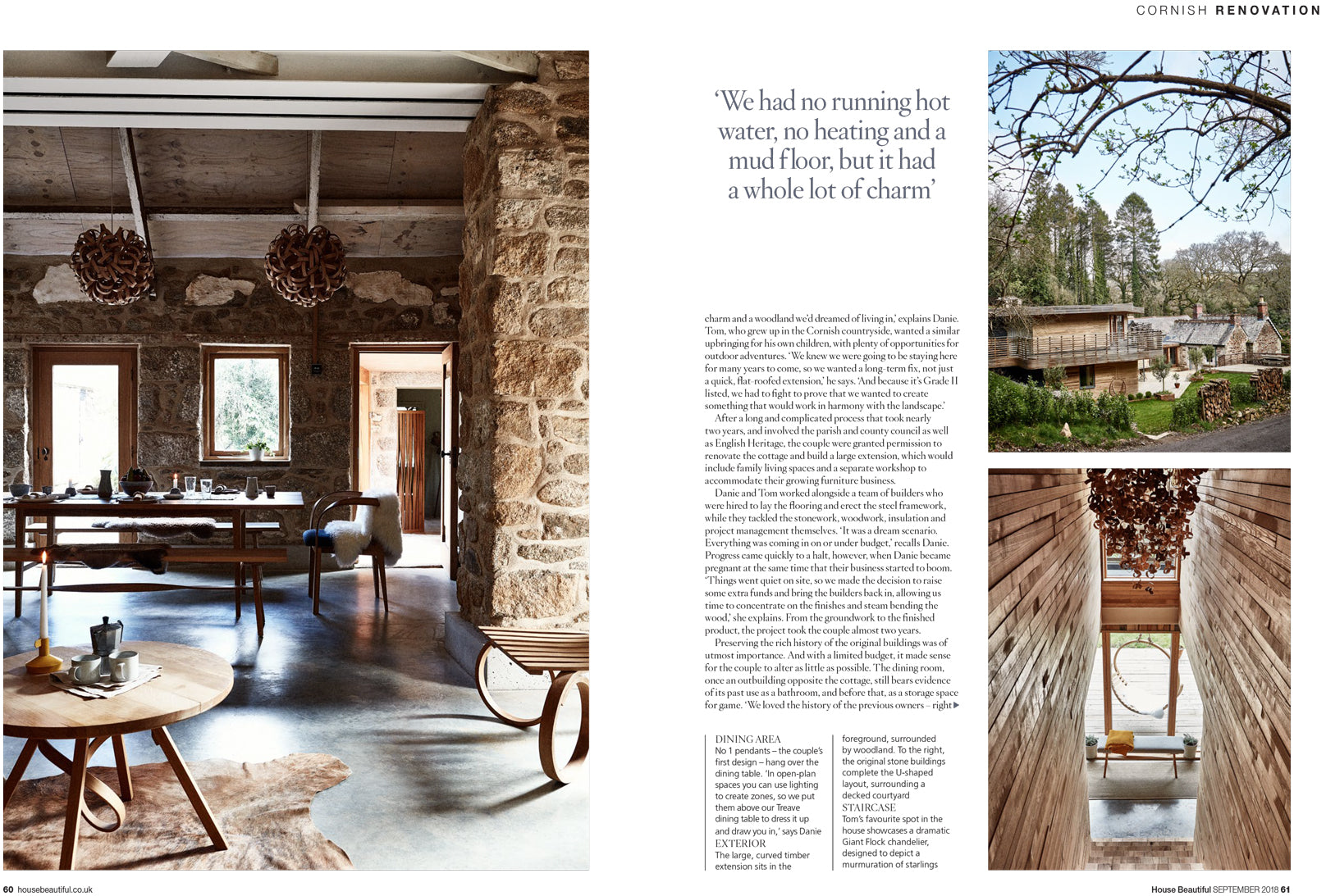 House Beautiful Feature The Grand Designs Home In A Modern Rustic Spec Tom Raffield