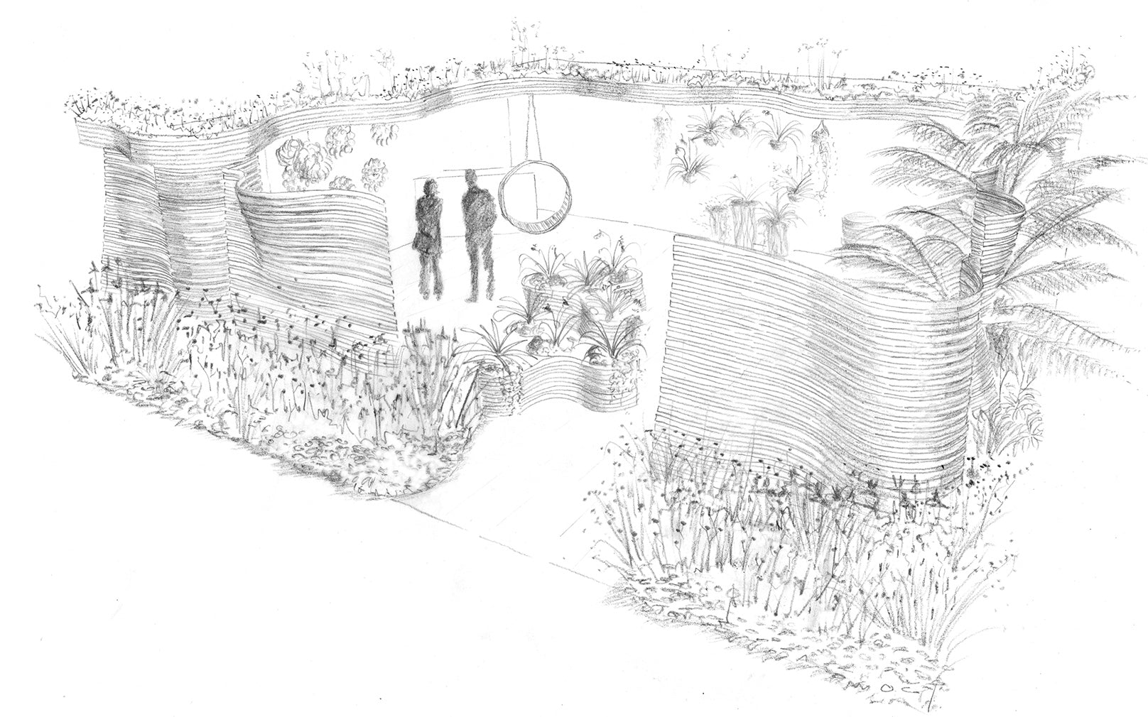Chelsea Flower Show Sketch