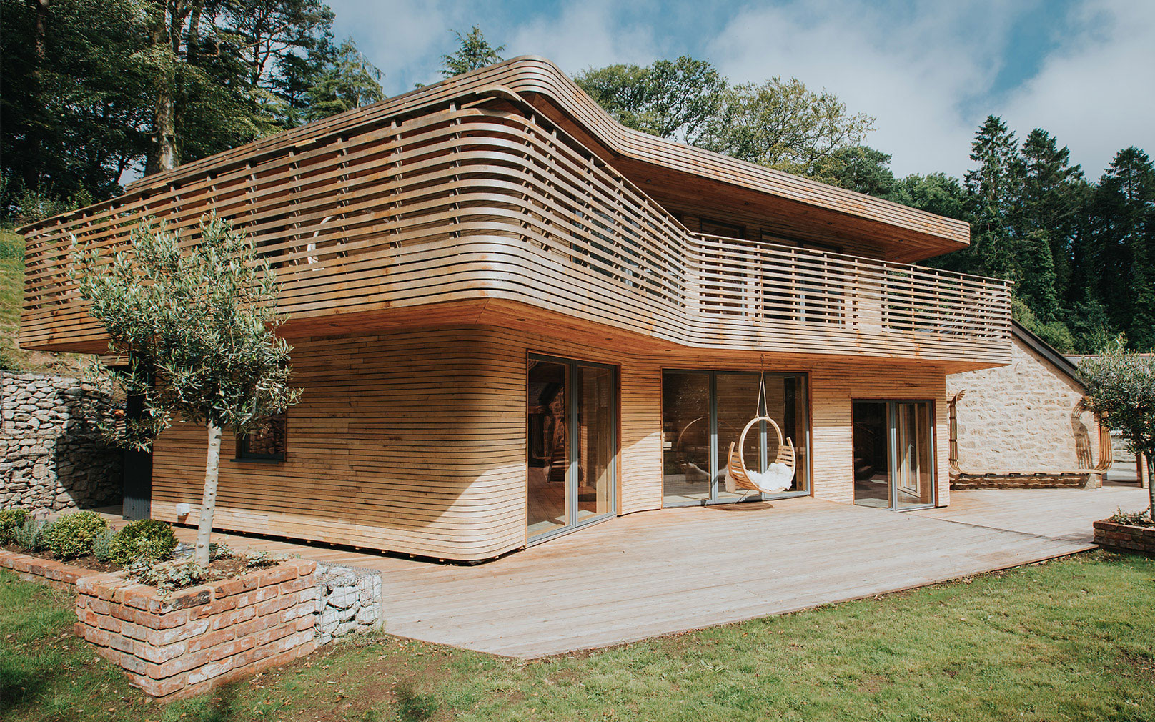 Tom Raffield's house of steam-bent wood