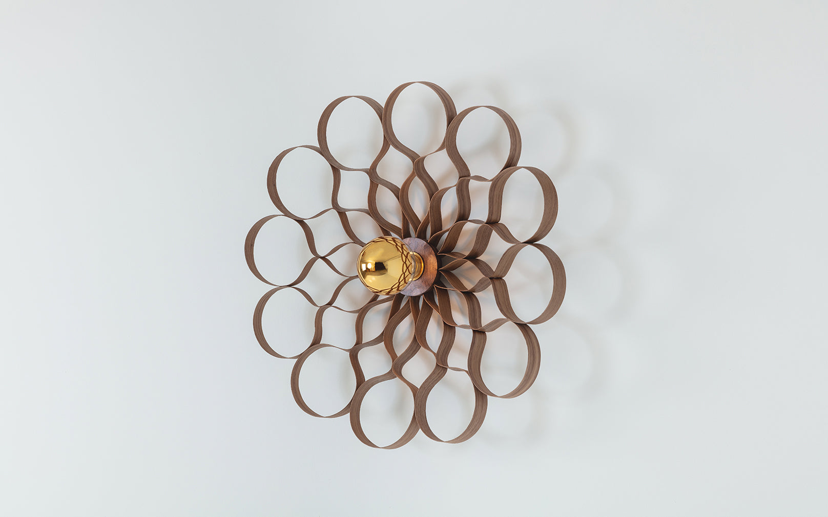 Arame Wall Light in Walnut