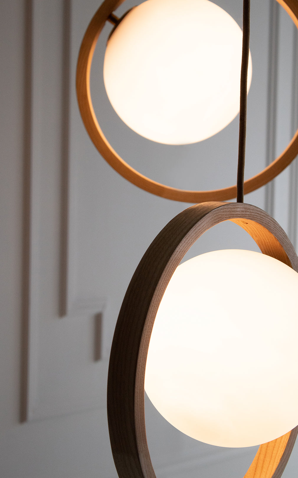 Loer Pendant by Tom Raffield