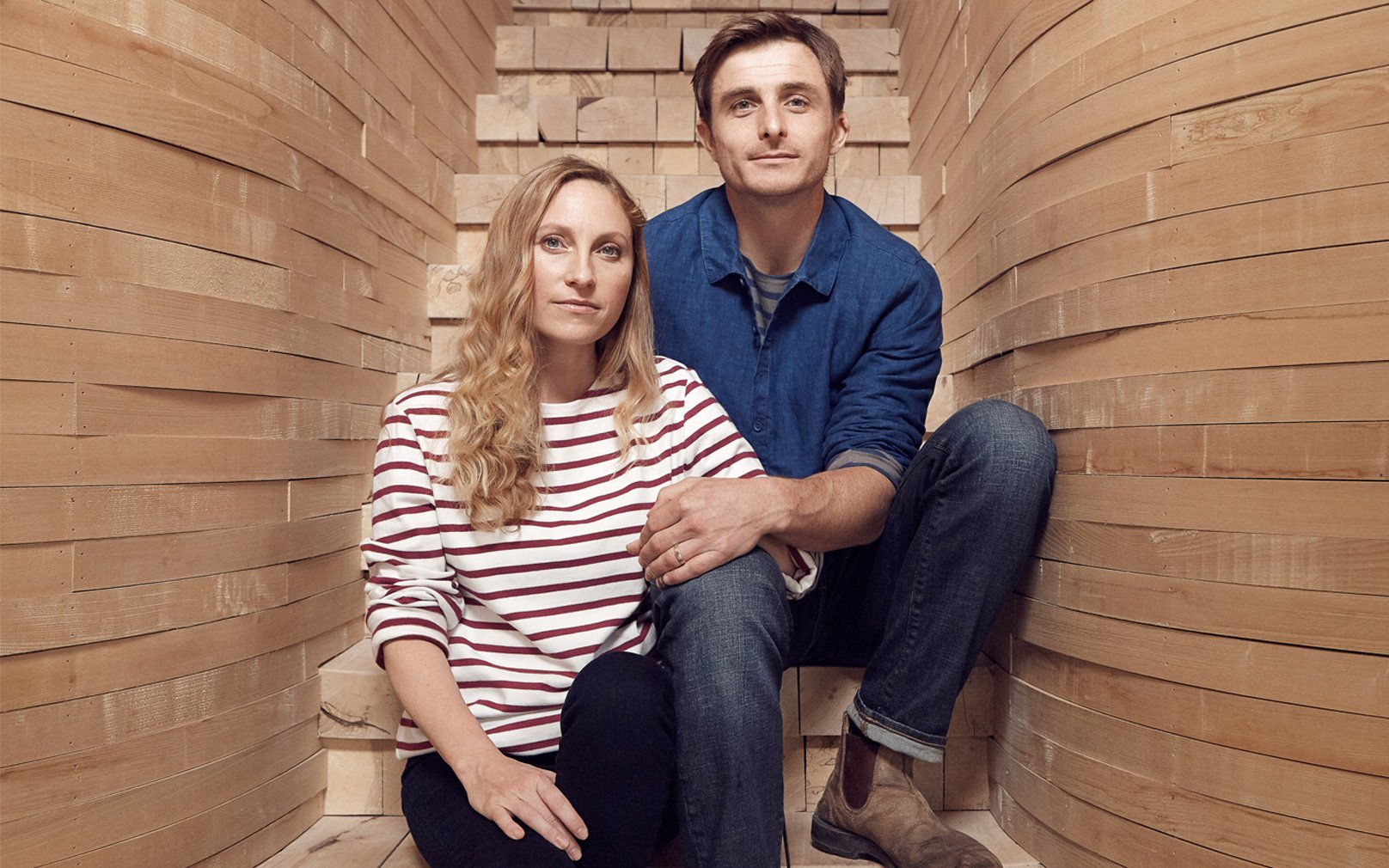 Tom and Danielle Raffield at home
