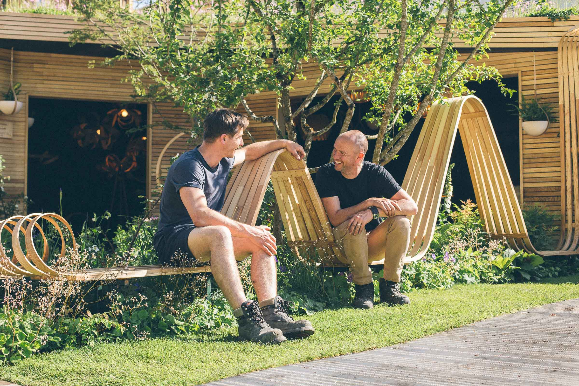 Tom Raffield & Darren Hawkes at RHS Chelsea Flower Show 2018