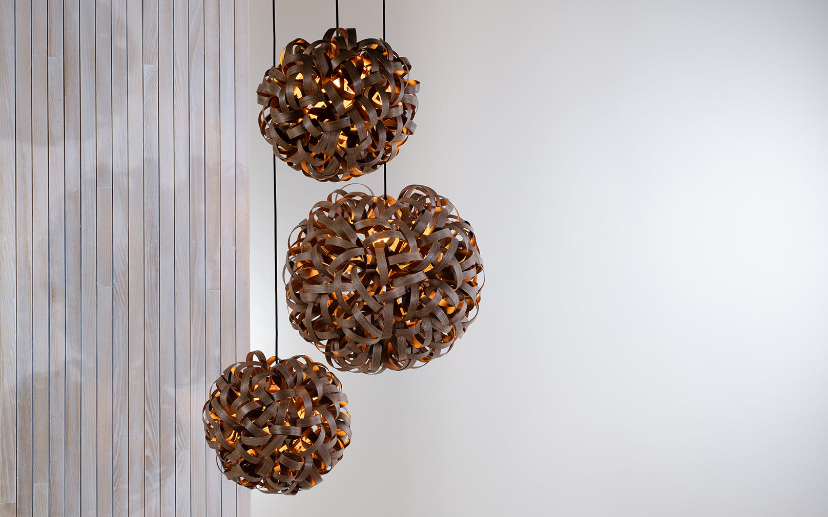 Tom Raffield No.1 Pendant Range - Trio Cluster Large