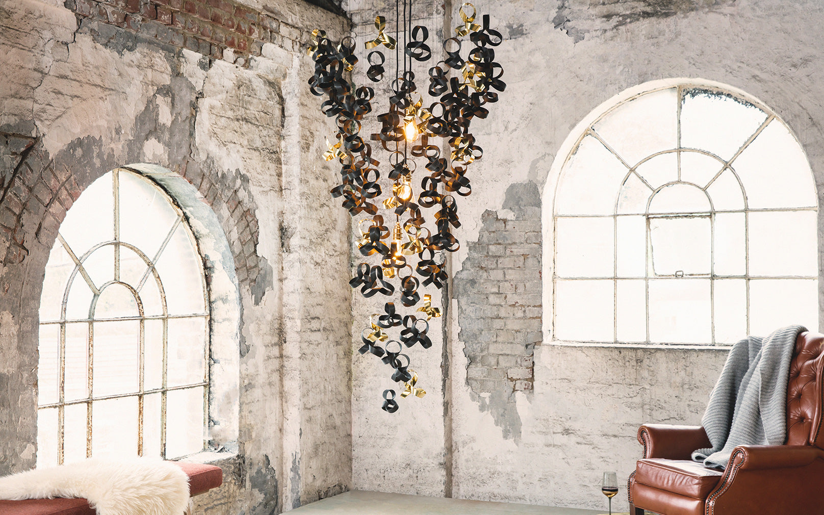 Tom Raffield Noctis Flock Chandelier