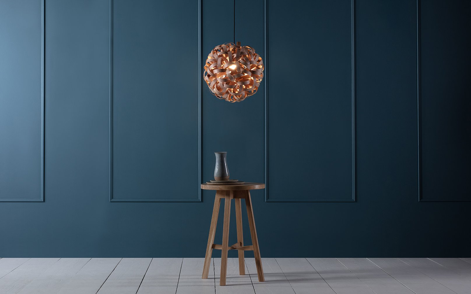 Tom Raffield No.1 Pendant in Oak