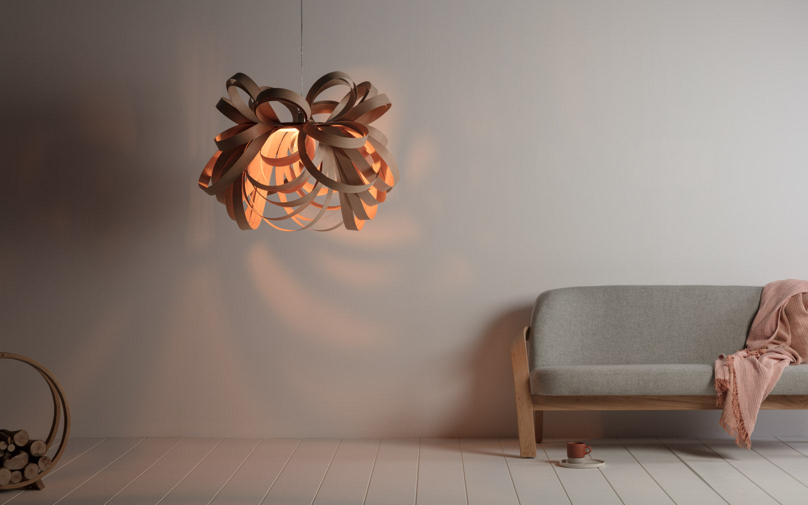 Tom Raffield Butterfly Pendant Light Giant Oak
