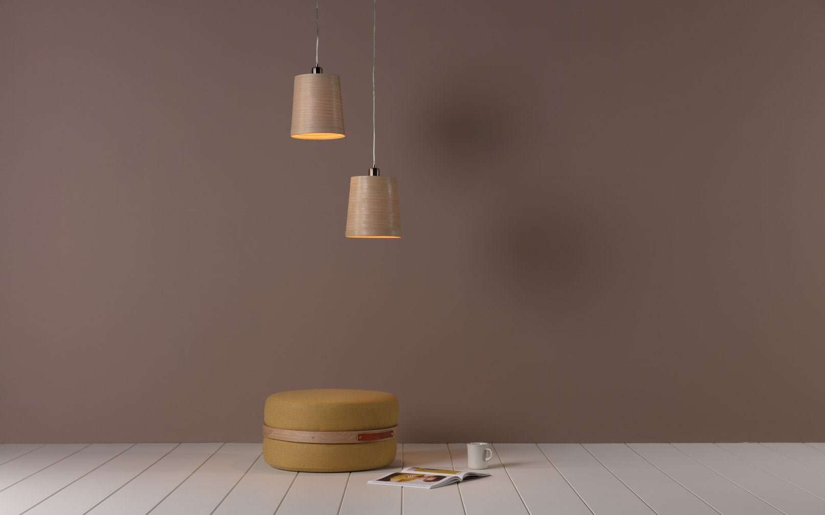 Tom Raffield Helix Pendant Light in Oak