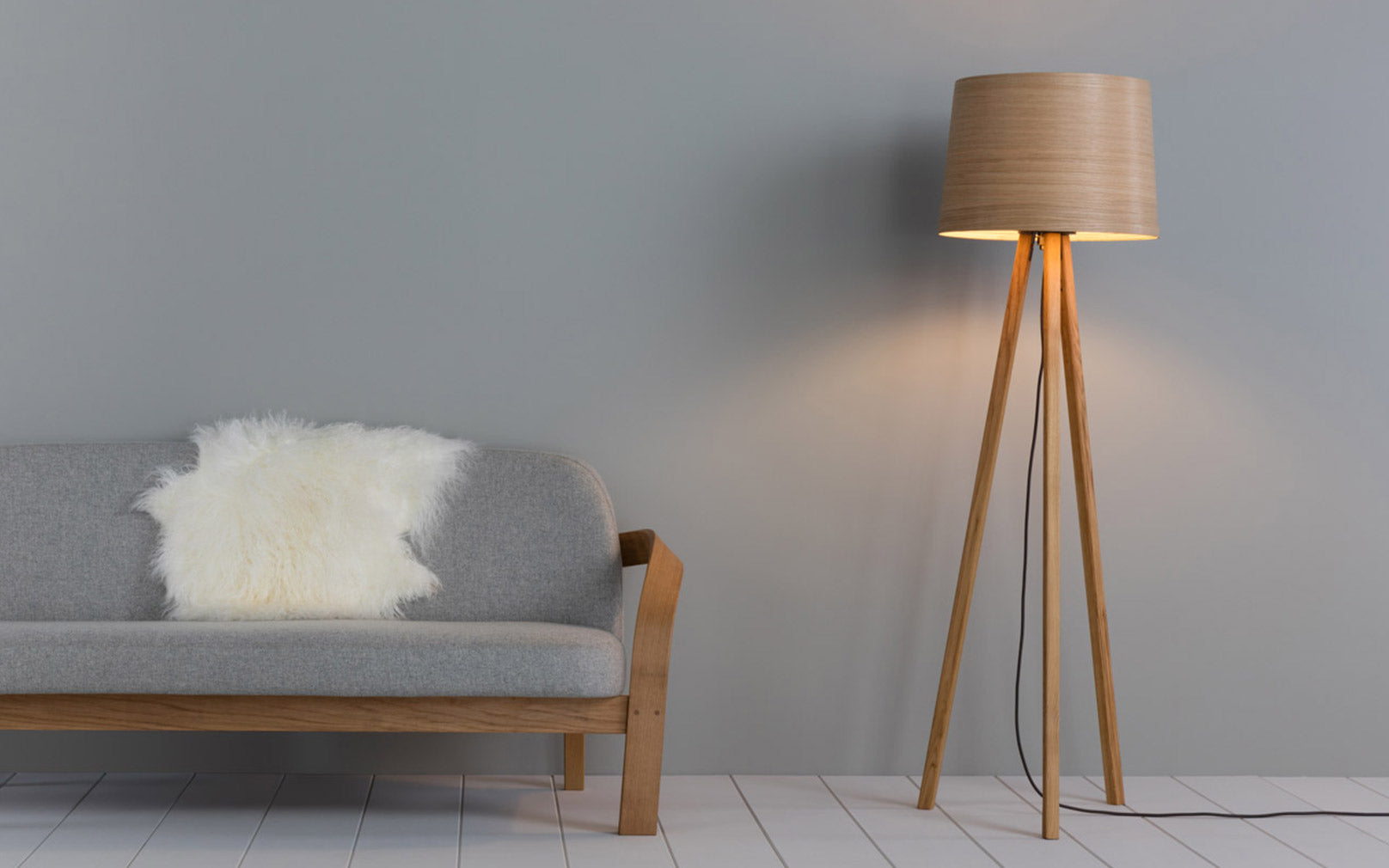 Tom Raffield Helix Floor Light in Oak