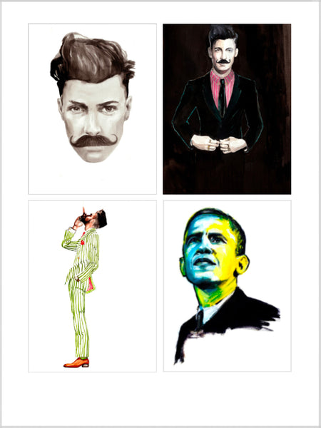 Collection image for Men Prints collection of limited edition giclée prints by Sjoukje Bierma Illustrations