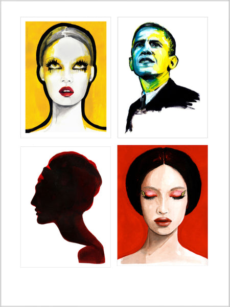Collection image for Portrait Prints collection of limited edition giclée prints by Sjoukje Bierma Illustrations
