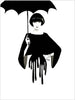 Fashion illustration print of Drip by Sjoukje Bierma - woman with umbrella