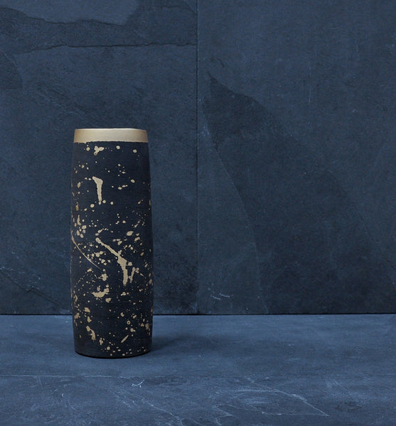 Real Gold Splatter Flower Vase