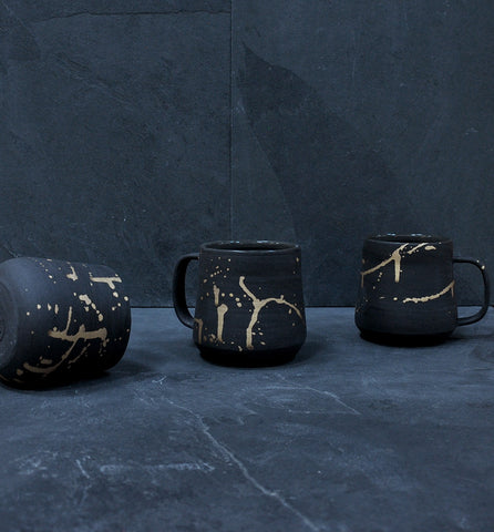 Real Gold Splatter Mug