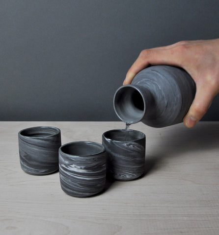 Sake Set - Midnight Noir