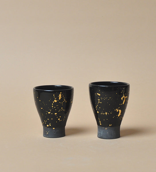 Black Stardust Shotglass