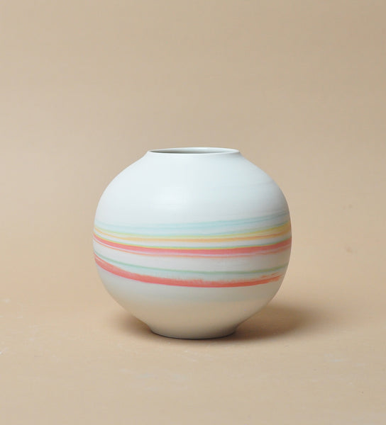 Orb Vase - Tri Color - Taffy