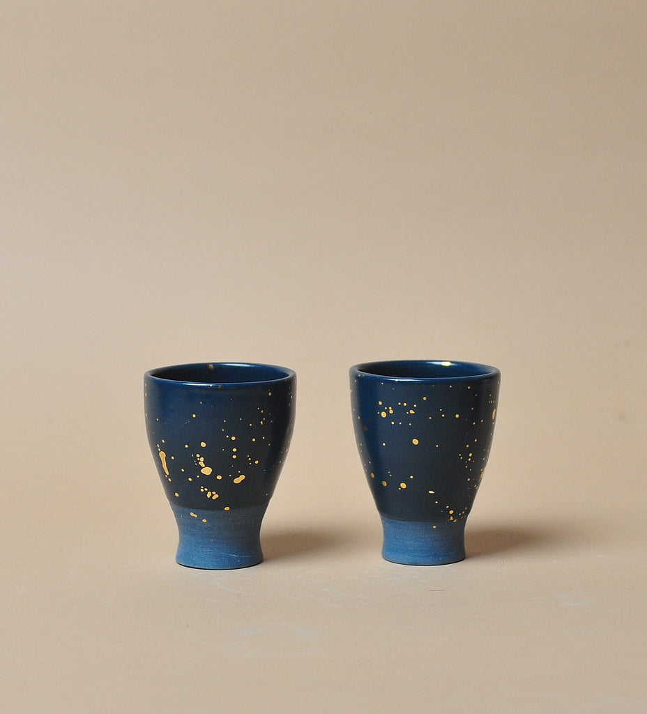 Teal Stardust Shotglass - Set of Two