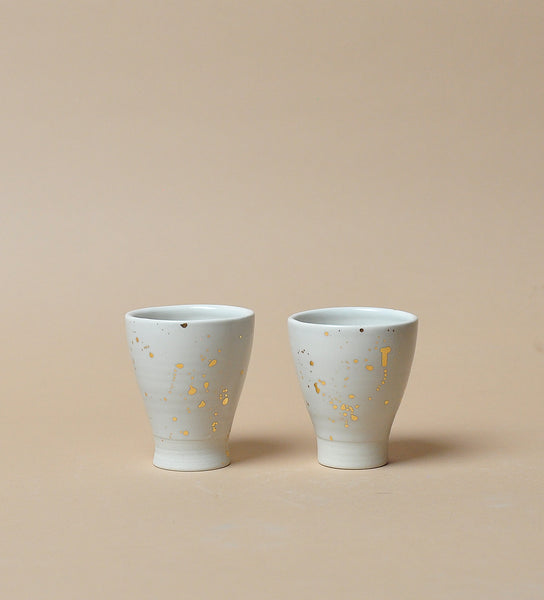 White Stardust Shotglass - Set of Two