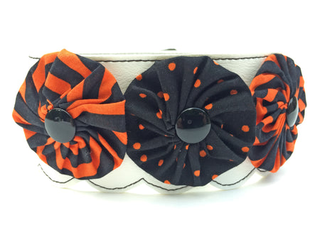 Halloween Swirls Flower Collar