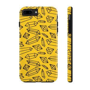 Lynze's Crystals Yellow Phone Case